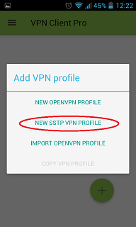 how to setup SSTP in android